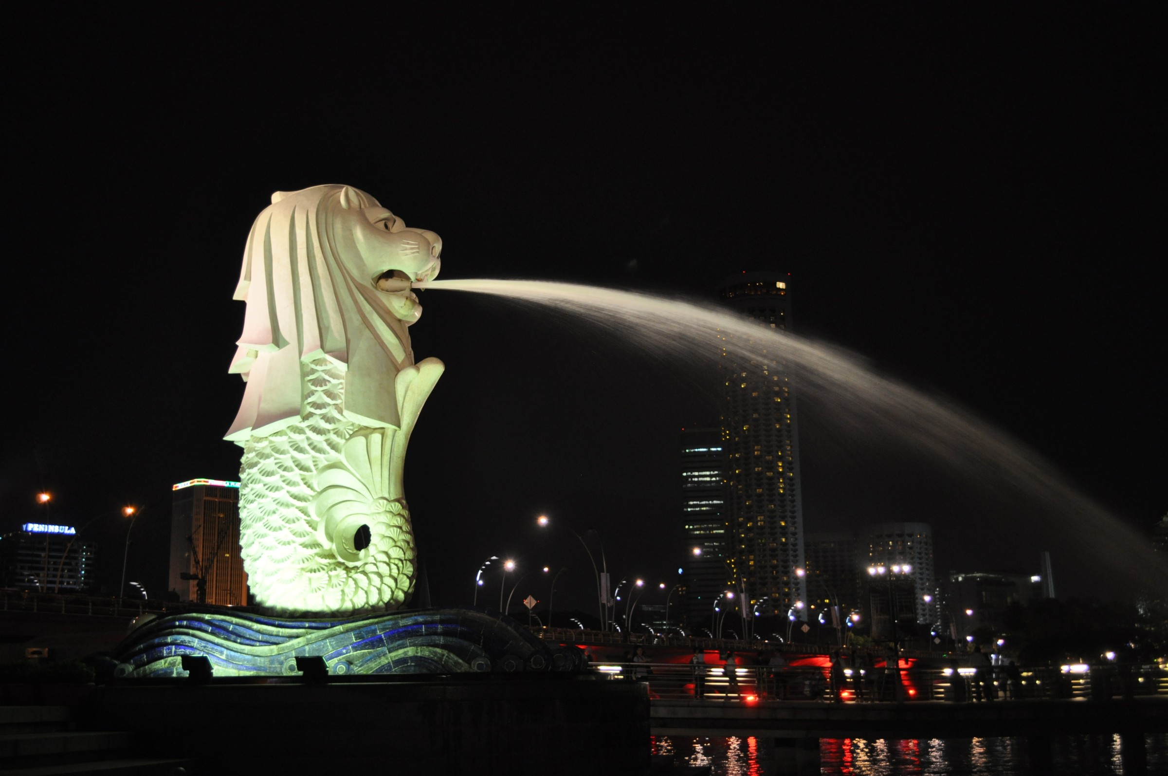 The famous Merlion of Singapore