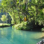 blue lagoon at vang vieng